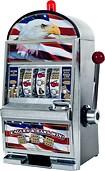Trademark Poker - Star-Spangled Eagle Flag Slot Machine Bank
