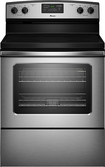 "Amana - 30"" Self-Cleaning Freestanding Electric Range - Stainless-Steel"