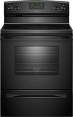"Amana - 30"" Self-Cleaning Freestanding Electric Range - Black"