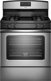 "Amana - 30"" Self-Cleaning Freestanding Gas Range - Stainless-Steel"
