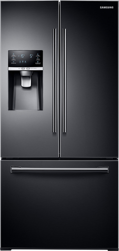 Samsung - 25.5 Cu. Ft. French Door Refrigerator - Black