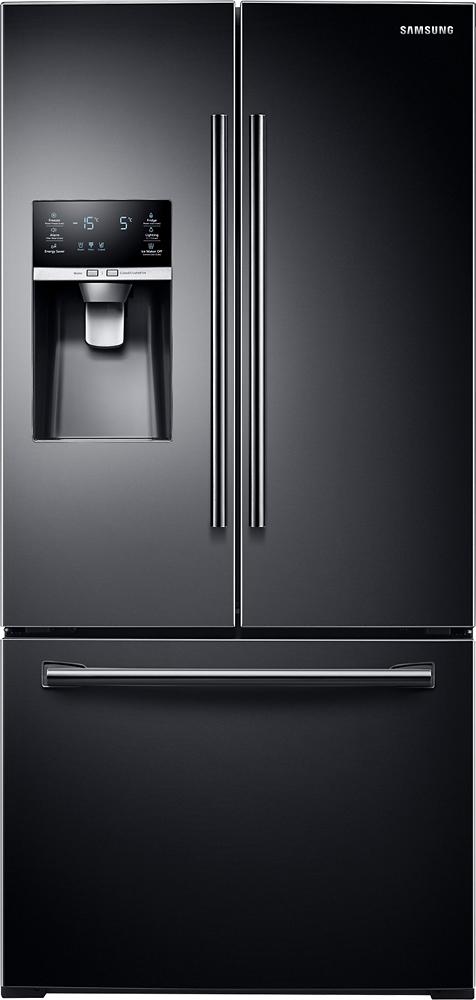 Samsung - 25.5 Cu. Ft. French Door Refrigerator - Black