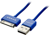 Dynex™ - 3' USB-to-Apple® 30-Pin Charge-and-Sync Cable - Sapphire