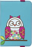 "Studio C - Owl Betcha Case for Most Tablets Up to 10"" - Turquoise/Pink/Green"
