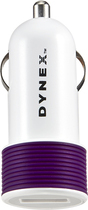Dynex™ - USB Vehicle Charger - Amethyst