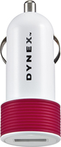 Dynex™ - USB Vehicle Charger - Ruby