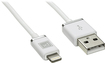 Platinum - 4' Lighting Charge-and-Sync Cable - White/Chrome
