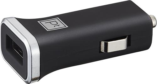 Platinum - USB Vehicle Charger - Black/Chrome