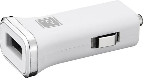 Platinum - USB Vehicle Charger - White/Chrome