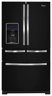 Whirlpool - 25.8 Cu. Ft. French Door Refrigerator - Black Ice