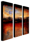 Trademark Art - Michelle Calkins Red Skies at Night Gallery-Wrapped Canvas - Multicolor