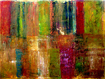 Trademark Art - Michelle Calkins Color Panel Abstract Gallery-Wrapped Canvas - Multicolor
