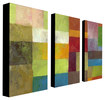 Trademark Art - Michelle Calkins Abstract Color Panels IV Gallery-Wrapped Canvas - Multicolor