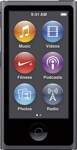 Apple - iPod nano® 16GB MP3 Player (8th Generation - Latest Model) - Space Gray