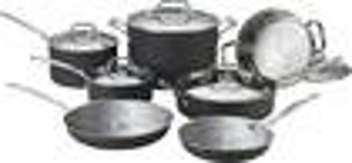 Cuisinart - MultiClad Unlimited 12-Piece Cookware Set - Black