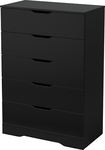 South Shore - Holland 5-drawer Chest - Black