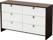 South Shore - Cookie 6-Drawer Dresser - Mocha