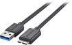 Insignia™ - 3' USB 3.0 A-Male-to-Micro-B-Male Cable - Black