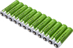 Dynex™ - Rechargeable AAA Batteries (12-Pack) - Green/Silver