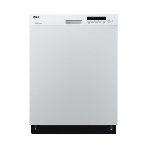 "LG 24"" Built-In Dishwasher with Stainless Steel Tub Smooth White LDS5040WW"