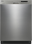"LG - 24"" Tall Tub Built-In Dishwasher - Stainless-Steel"