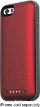 mophie - juice pack air Charging Case for Apple® iPhone® 5 and 5s - Red