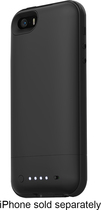 mophie - juice pack plus Charging Case for Apple® iPhone® 5 and 5s - Black