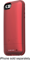 mophie - juice pack plus Charging Case for Apple® iPhone® 5 and 5s - Red