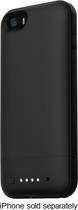 mophie - juice pack air Charging Case for Apple® iPhone® 5 and 5s - Black