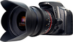 Bower - 24mm T/1.5 Wide-Angle Cine Lens for Most Canon EOS DSLR Cameras - Black