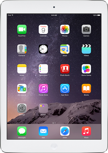 Apple - Geek Squad Certified Refurbished Air with Wi-Fi - 16GB - Silver/White