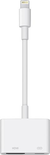 Apple Lightning Digital A V Adapter White Md826zm A Best Buy