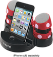 Disney - Portable Mini Speakers for Select Apple® iPhone® and iPod® Models - Black/Red