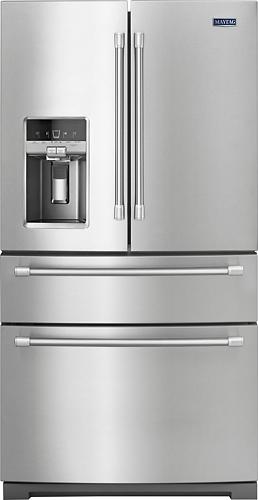 Maytag - 26.2 Cu. Ft. 4-Door French Door Refrigerator - Stainless steel