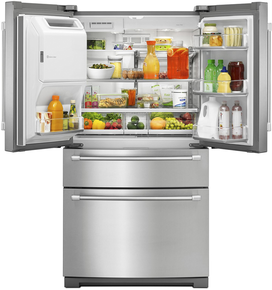 Maytag french door refrigerator reviews - Maytag 26 2 Cu Ft 4 Door French Door Refrigerator Silver Mfx2876drm Best Buy