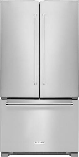 KitchenAid - 21.9 Cu. Ft. French Door Counter-Depth Refrigerator - Stainless Steel