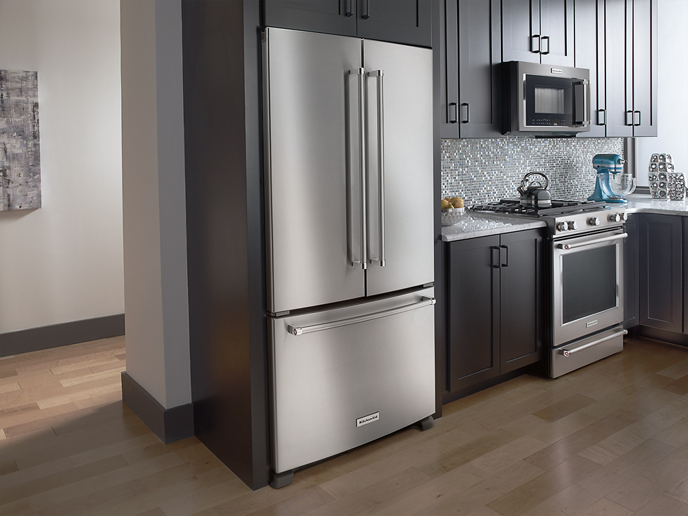 Merveilleux KitchenAid   21.9 Cu. Ft. French Door Counter Depth Refrigerator    Stainless Steel At Pacific Sales