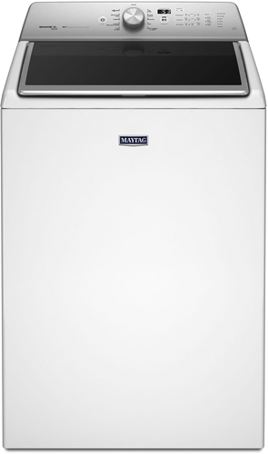 Maytag - 5.3 Cu. Ft. 11-Cycle Steam Top-Loading Washer - White