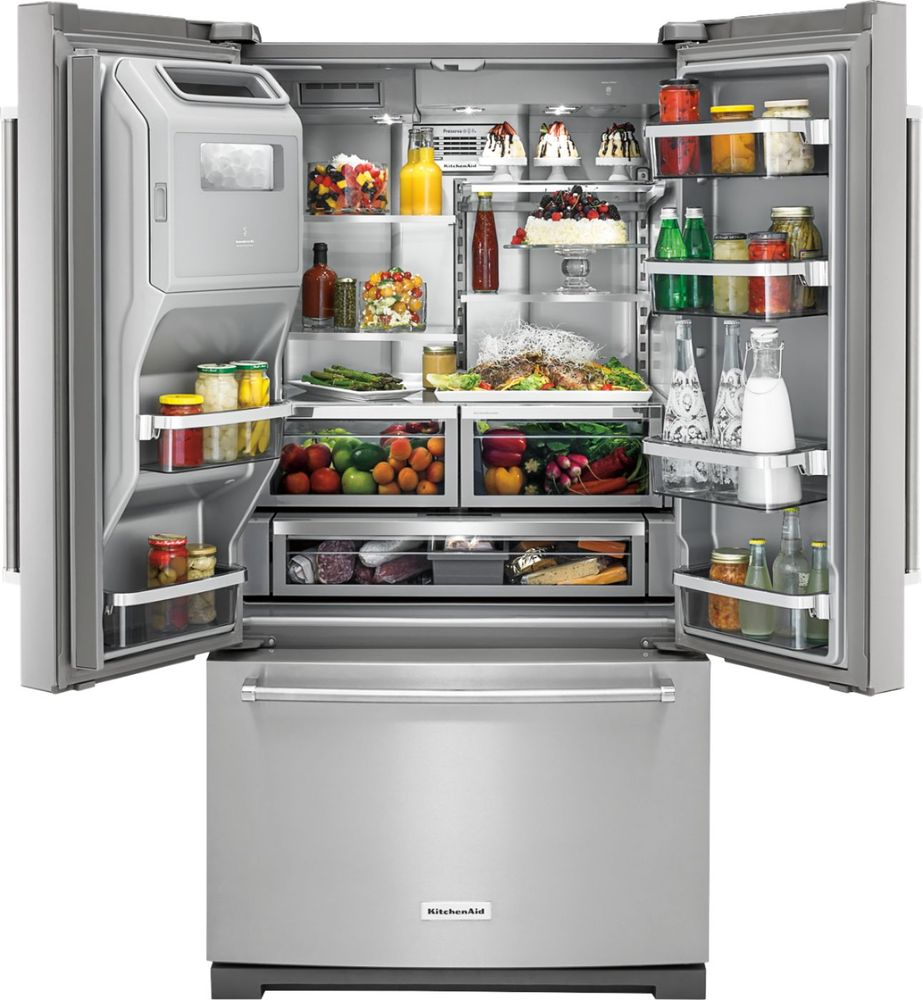 Kitchenaid 26 8 Cu Ft French Door Refrigerator Stainless Steel At Pacific S