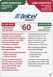TELCEL - $60 Top-Up Prepaid Phone Card