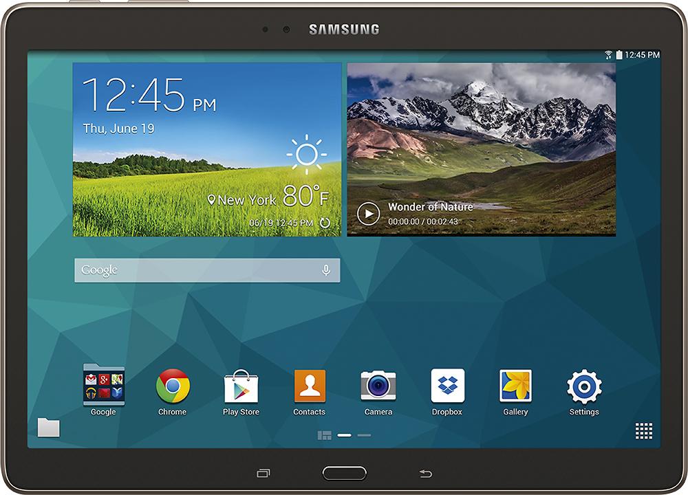 "Samsung - Galaxy Tab S - 10.5"" - 16GB - Titanium Bronze"