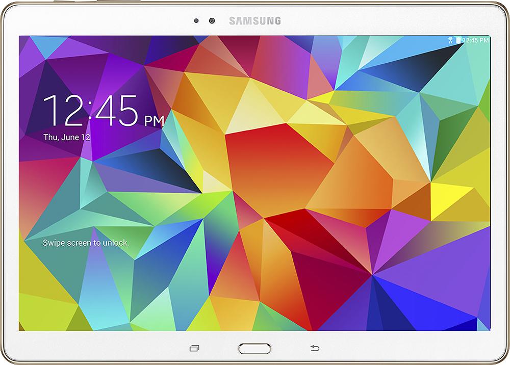 Samsung - Galaxy Tab S 10.5 - 16GB - Dazzling White