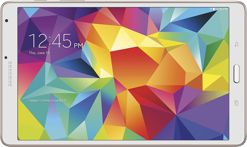 "Samsung - Galaxy Tab S - 8.4"" - 16GB - Dazzling White"