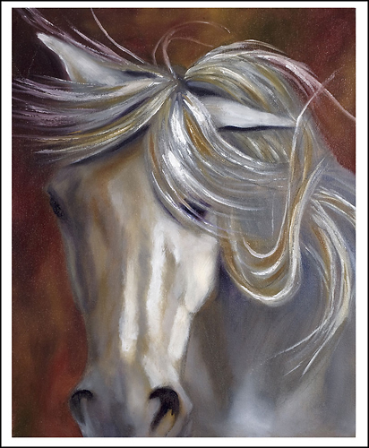 Trademark Art - Odyssey in White II by Michelle Moate - White