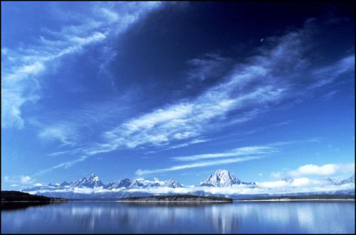 Trademark Art - A Grand Teton Vista by Kurt Shaffer - Blue