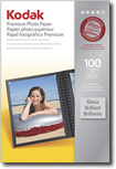 "Kodak - 100-Pack 4"" x 6"" High-Gloss Photo Paper - White"