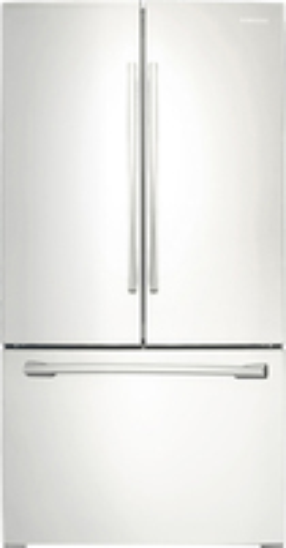 Samsung - 25.7 Cu. Ft. French Door Refrigerator - White