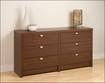 Prepac - Series 9 6-Drawer Dresser - Brown