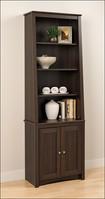 Prepac - Ashlin 6-Shelf Slant-Back Bookcase - Espresso¿