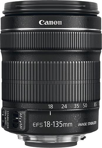 Canon - EF-S 18-135mm f/3.5-5.6 IS STM Standard Zoom Lens - Black